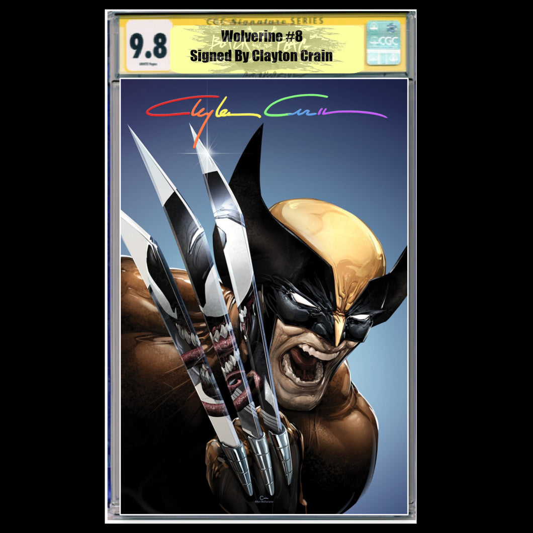CGC Signature Series 9.8 Virgin Wolverine #8/#350 Clayton Crain Infinity Edition