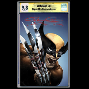 CGC Signature Series 9.8 Wolverine #8/#350Clayton Crain Claws Out Murder Edition