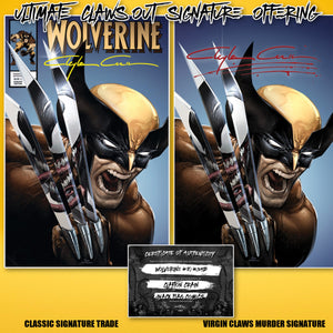 Clayton Crain Ultimate Claws Out Signature  Wolverine #8/#350  Set w/COA