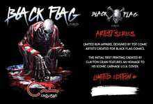 Load image into Gallery viewer, Clayton Crain Black Flag Comics Artist Series T-Shirt