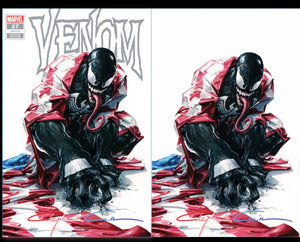 Signed Red/White/Blue  Infinity w/COA Venom #27 Clayton Crain Cover
