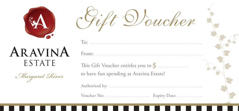 Aravina estate gift voucher on checkout please make sure you include the name and address of the person receiving the gift voucher negle Image collections