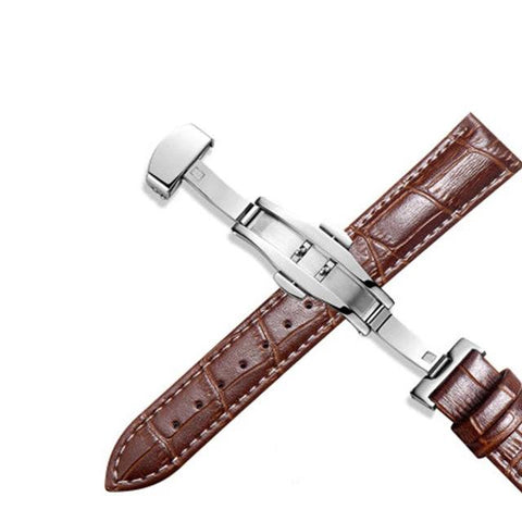 Dark Brown Leather Watch Strap