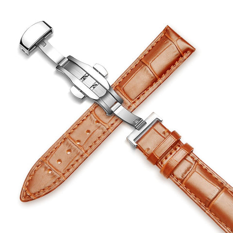 Light Brown Leather Watch Strap