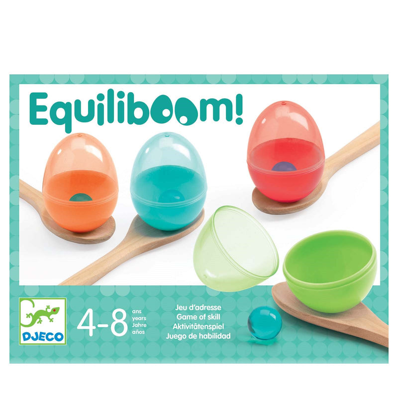 Equiliboom <br> Egg and Spoon <br> Skill Game