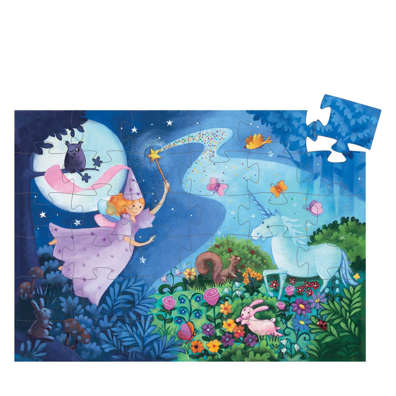 The Fairy and The Unicorn <br> Silhouette Puzzle
