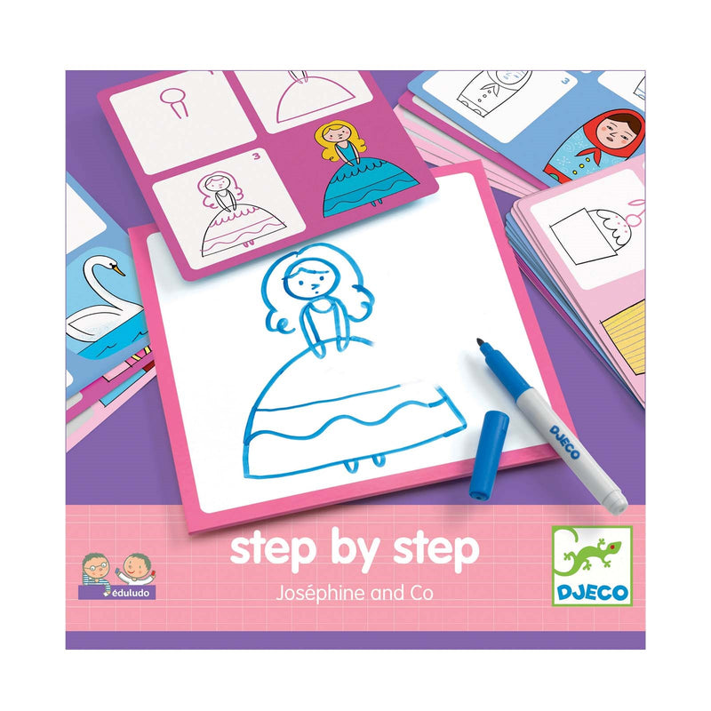 Josephine And Co <br> Step By Step <br> Drawing Game