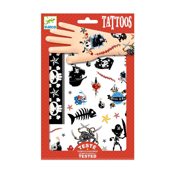 Pirates Childrens <br> Temporary Tattoos