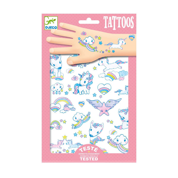 Unicorns Childrens <br> Temporary Tattoos