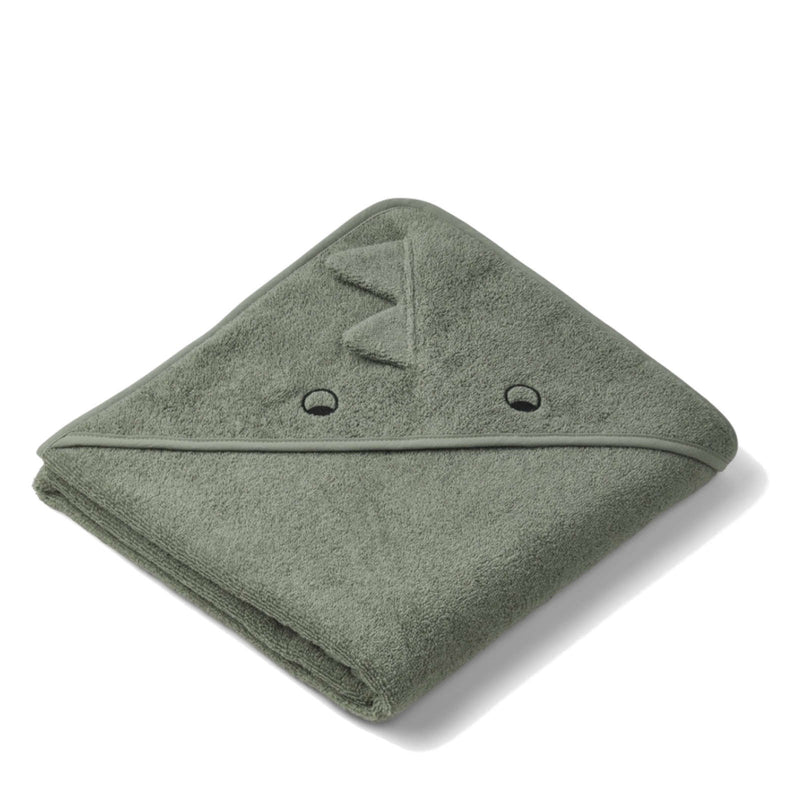 Augusta Hooded Towel Dino Faune Green