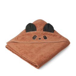 Augusta Hooded Towel Panda Tuscany Rose