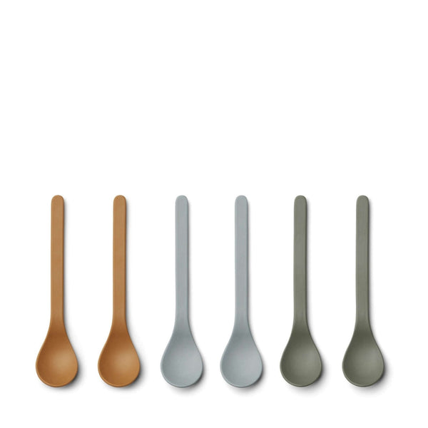 Etsu Bamboo Spoon – 6 Pack Blue Multi Mix