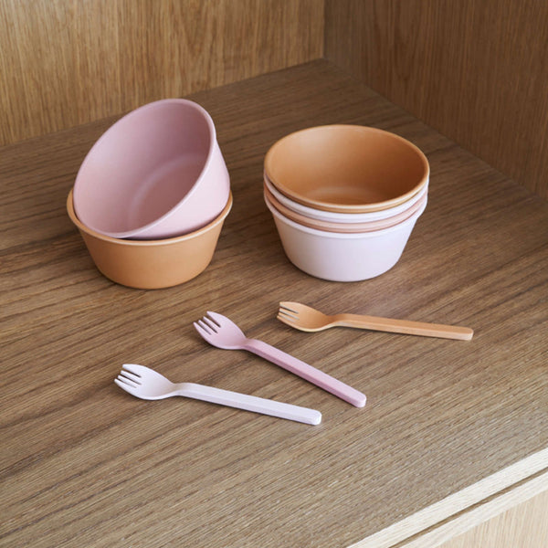 Greta Bamboo Bowl - 6 Pack Rose Multi Mix