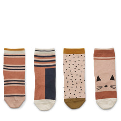 Silas Cotton Socks – 4 Pack Rose Multi Mix