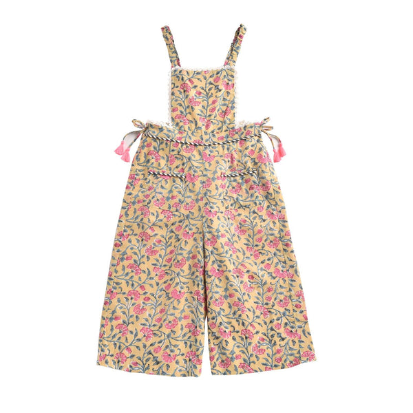 Bacalar Lemon <br> Flowers Overalls