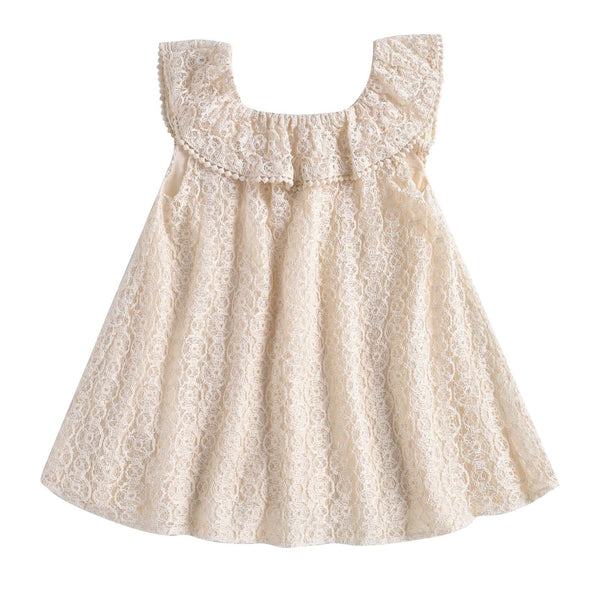 Jonuta Cream Sparkle <br> Lace Dress