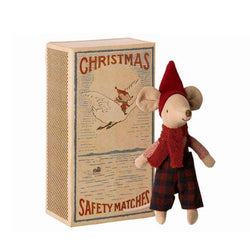 Big Brother Christmas Mouse <br> in Matchbox