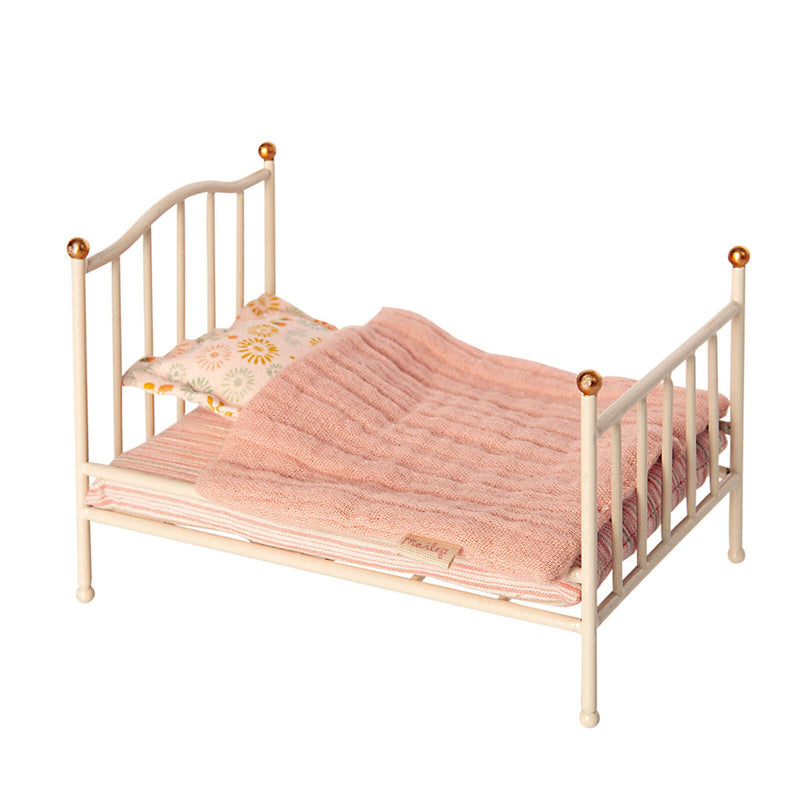 Micro Vintage Bed<br>Off White