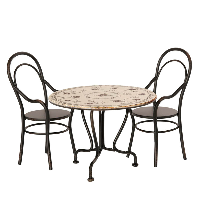 Micro Vintage<br>Micro Dining Table Set <br>With 2 Chairs
