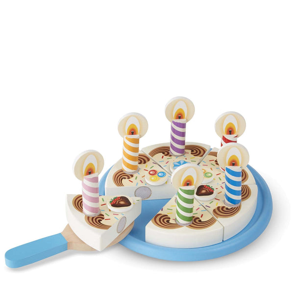 Wooden Birthday <br> Cake Set