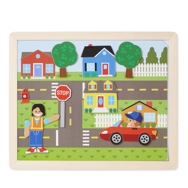 Wooden Magnetic <br> Matching Picture Game