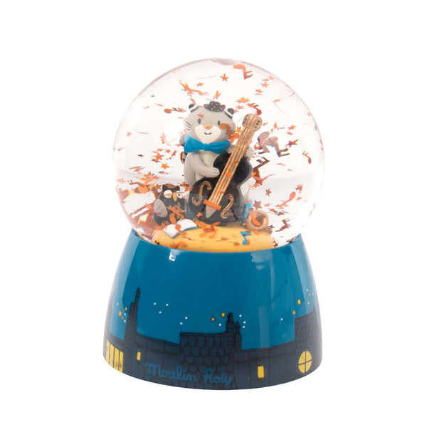 Les Moustaches <br> Musical Snow Globe