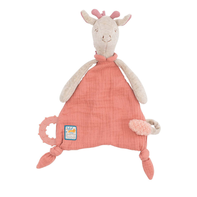 Sous Mon Baobab <br> Giraffe Comforter with Pacifier Holder