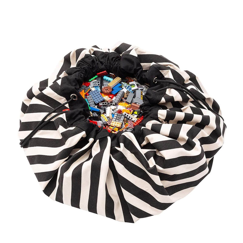 Black Stripes <br> Storage Bag / Playmat
