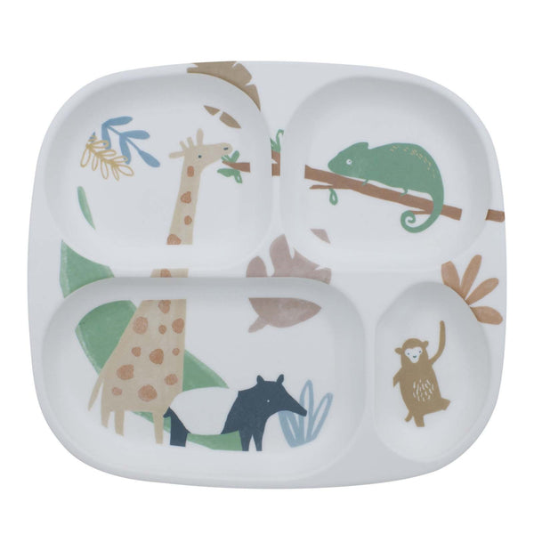 4 Section Melamine <br> Plate Wildlife