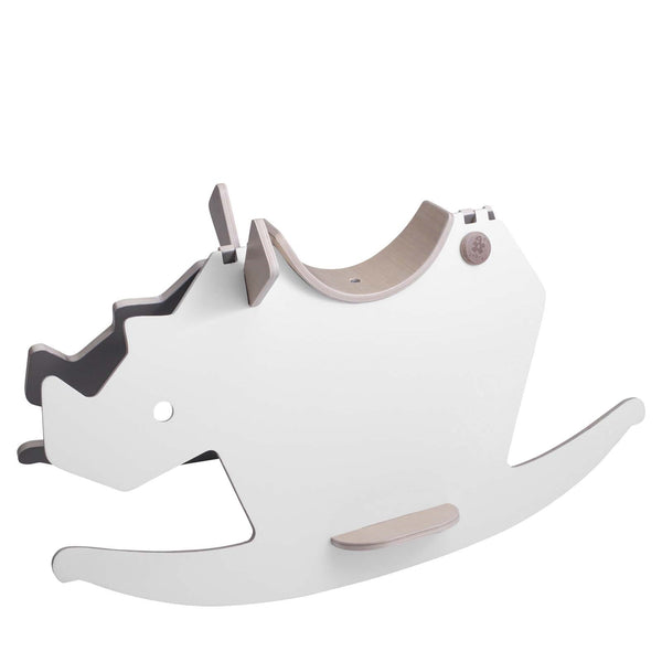 I Rock Wooden <br> Rocking Horse <br> White Warm Grey