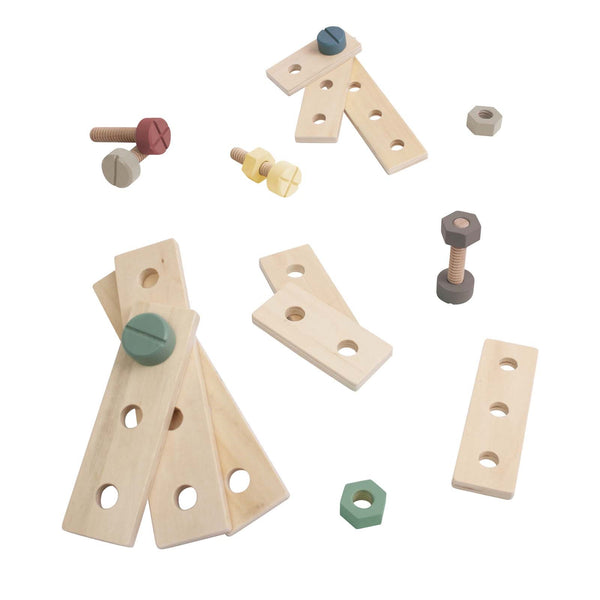 Wooden Construction Playset <br> Warm Grey