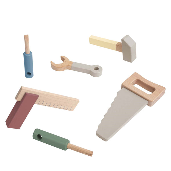 Wooden Tool Set <br> Warm Grey