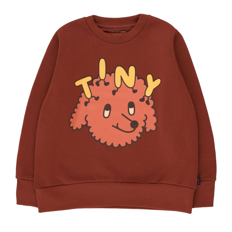 """Tiny Dog"" Sweatshirt<br>Dark Brown / Sienna"