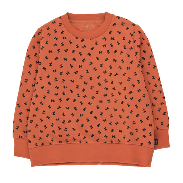 """Tiny Flowers"" Sweatshirt<br>Sienna / Navy"