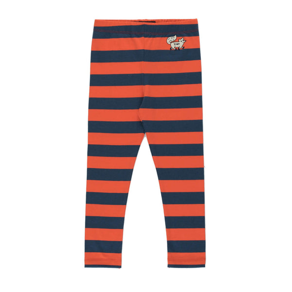 """Tiny Fox"" Stripes Pants<br>Light Navy / Red"
