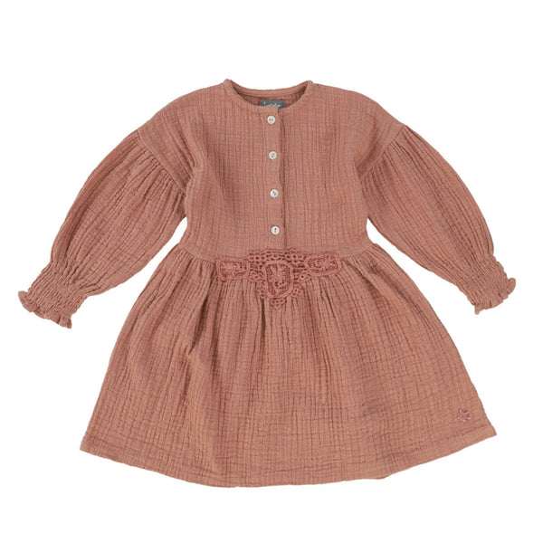 Puff Sleeved Dress Pink