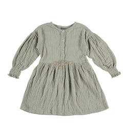 Puff Sleeved Dress Grey