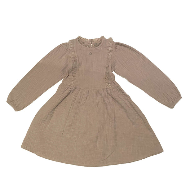 Dress With Lace Details Grey
