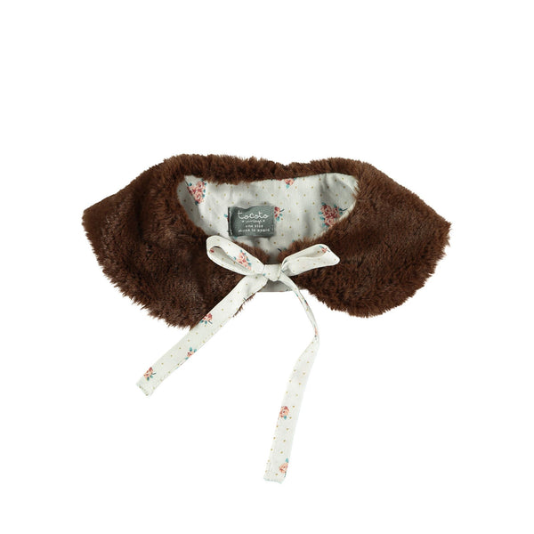 Faux Fur Collar Off-White
