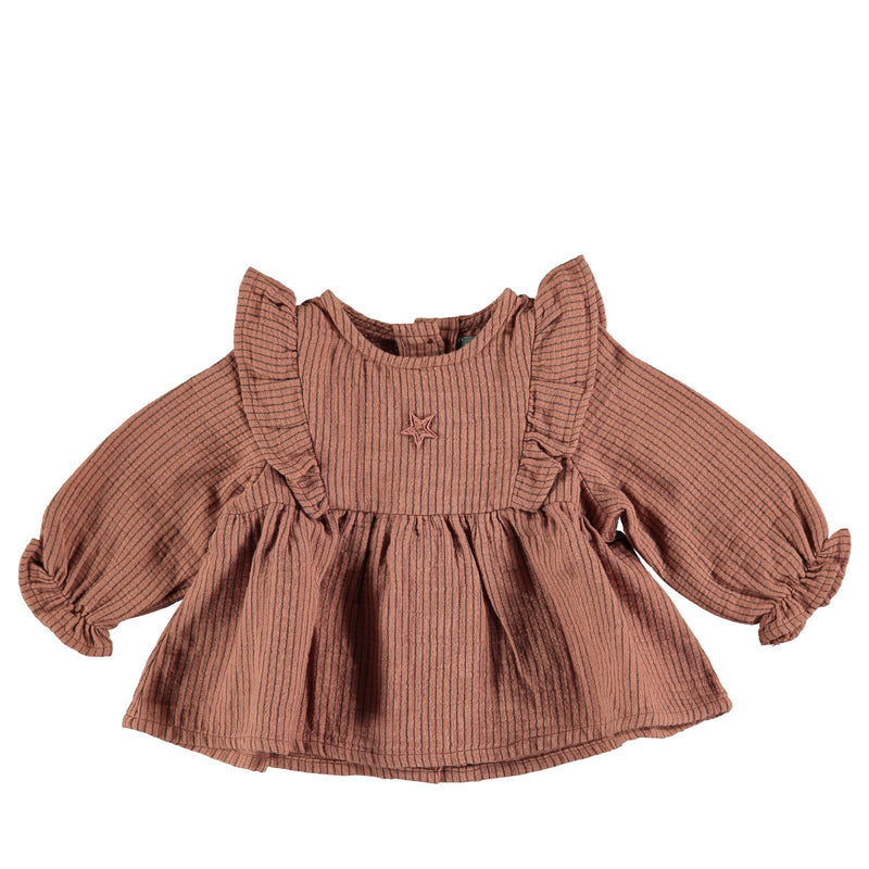 Striped Blouse Pink