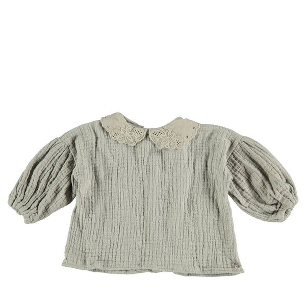 Bobo Collar Blouse Grey