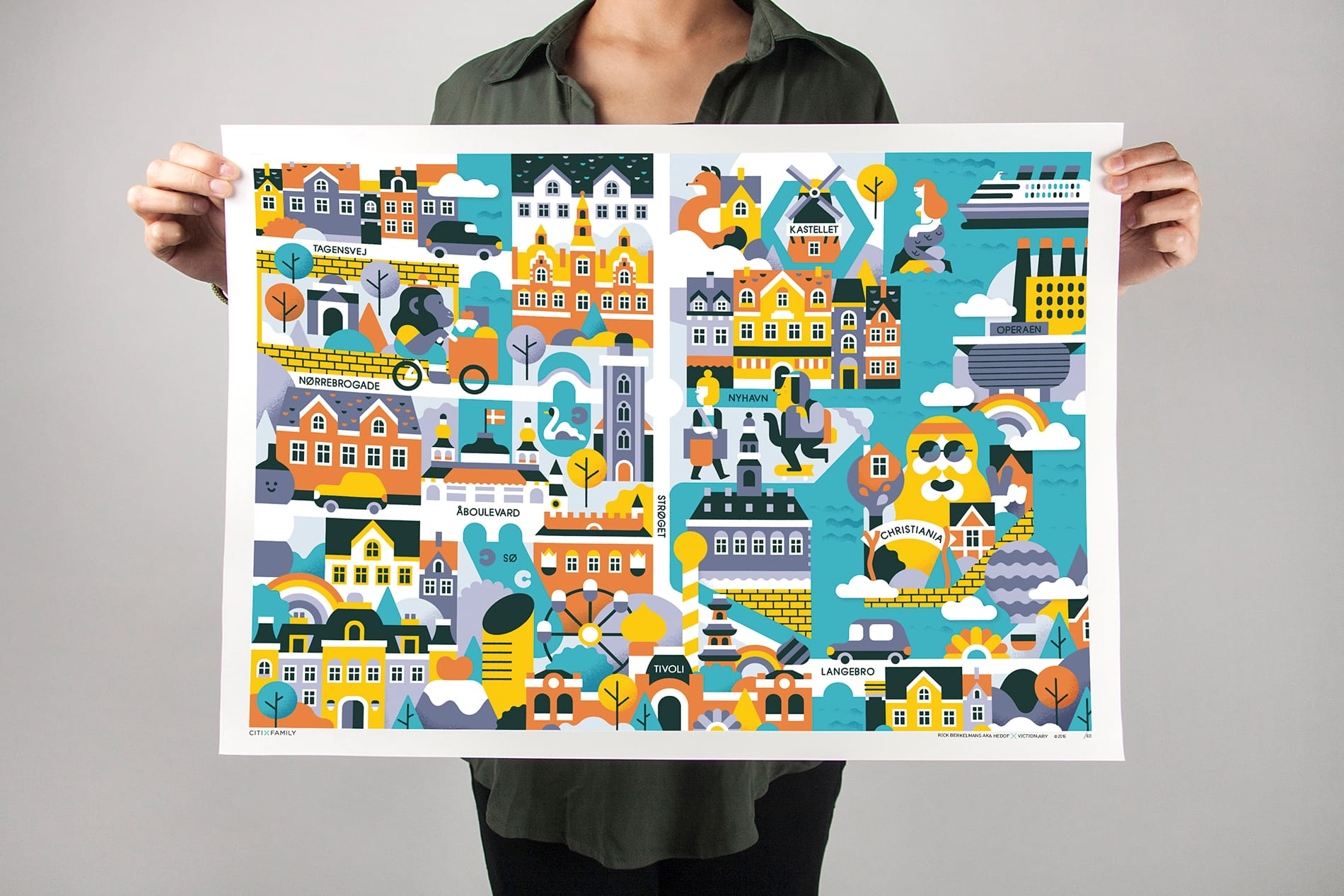 CITIxFamily Art Print: Copenhagen City Map