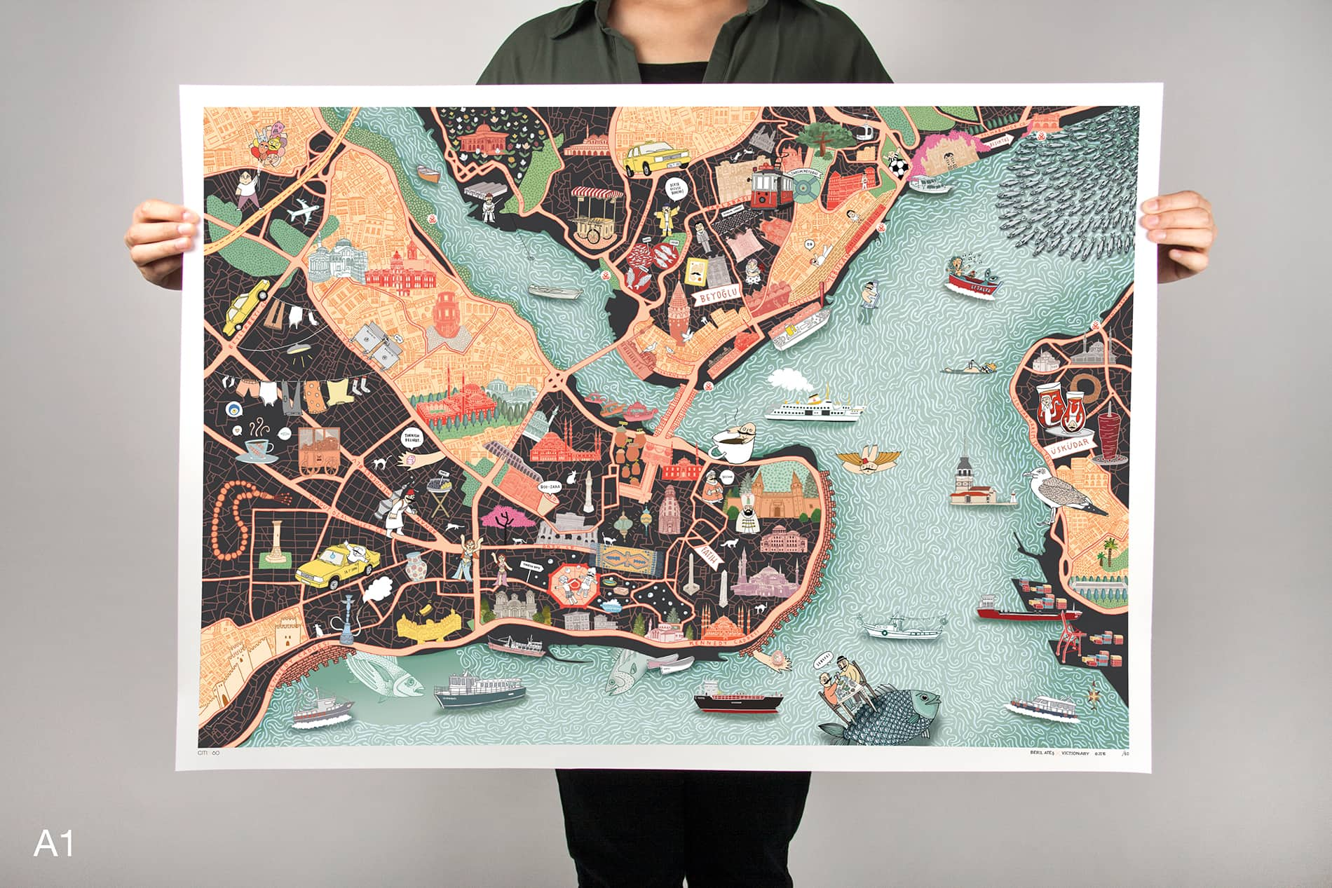 CITIx60 Art Print: Istanbul City Map