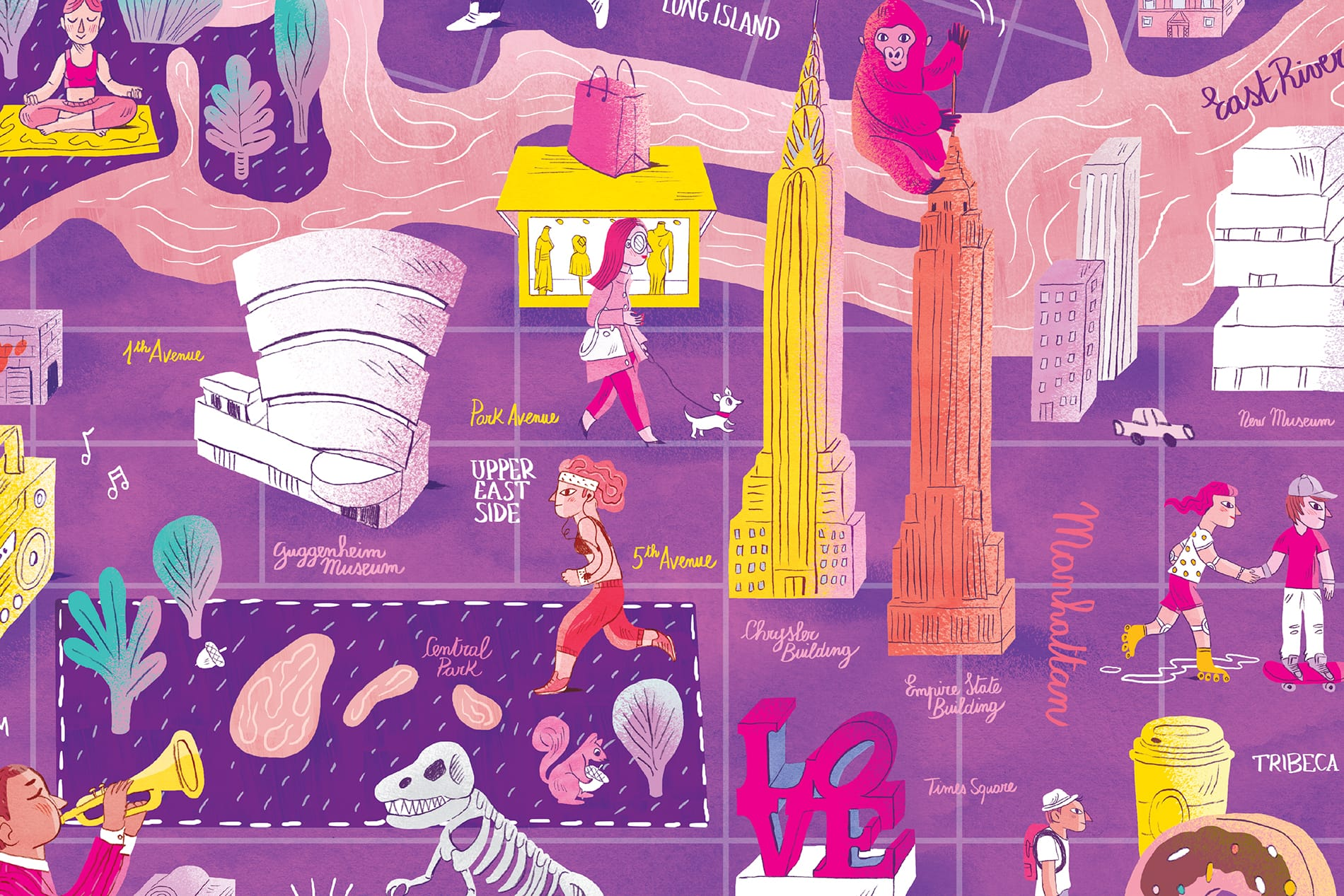 CITIxFamily Art Print Project: New York City Map