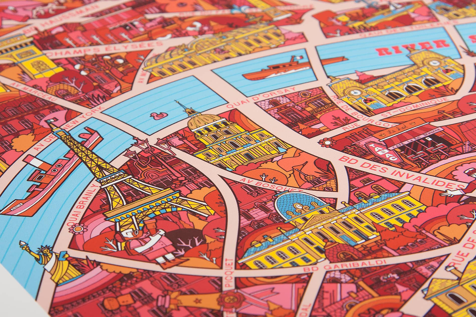 CITIx60 Art Print: Paris City Map