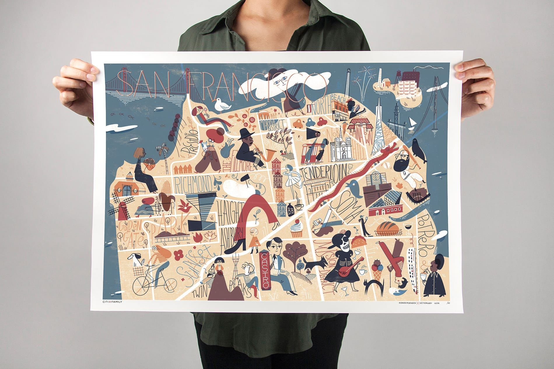 CITIxFamily Art Print: San Francisco City Map