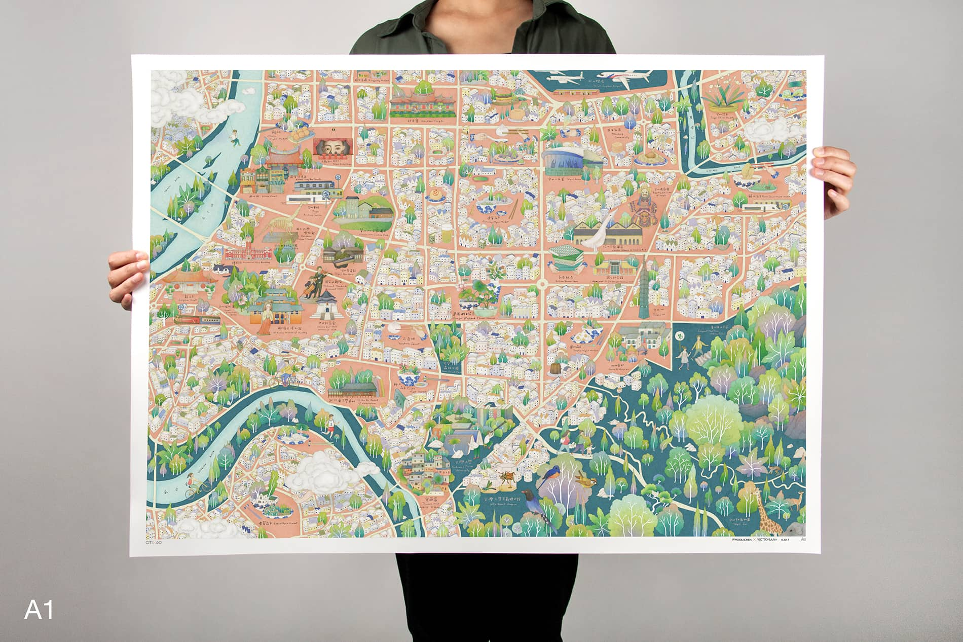 CITIx60 Art Print: Taipei City Map