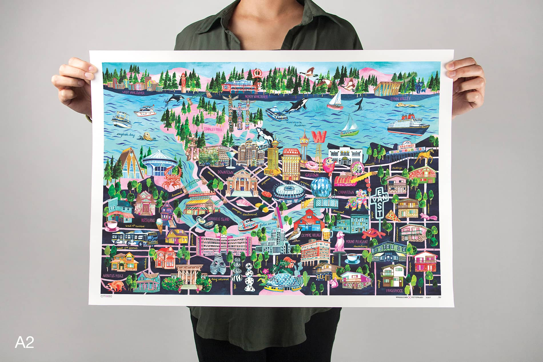 CITIx60 Art Print: Vancouver City Map