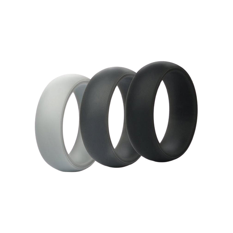 Classic- Grey 3 Pack Silicone Rings |  halobands