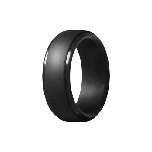 Edge - Black Silicone Rings |  halobands